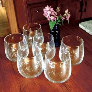 Set | 6 Crystal stemless Alessi Delta wine|bourbon